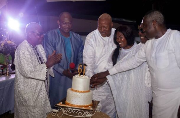 PHOTOS: Prof. Alabi throws lavish 61st birthday party after NDC defeat