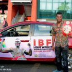 Richard Commey receives promised car from the Presidency