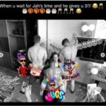 PHOTOS: Juliet Ibrahim shares raunchy photo of 3 men giving her lap dance on her 33rd birthday
