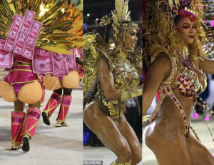 PHOTOS: Thousands of dancers parade their assets in sparkly G-strings at Rio de Janeiro carnival