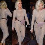PHOTOS: Khloe Kardashian flaunts her curves in skintight fishnet catsuit