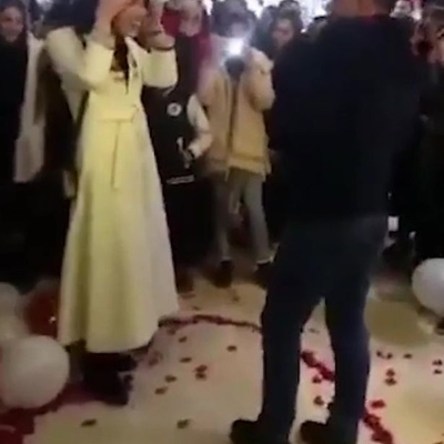 """VIDEO: Couple arrested over romantic shopping mall proposal because it """"offended Islam"""""""