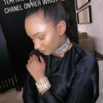 PHOTOS: Mr. Eazi's billionaire heiress girlfriend Temi Otedola wears £1.4m Chanel wristband