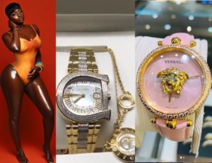VIDEO: Princess Shyngle shows off expensive wrist watches her Nigeria beau gave her