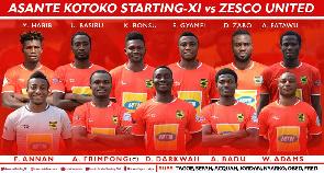Asante Kotoko line-up: Akonnor names XI to face Zesco United