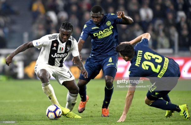 Ghana defender Nicholas Opoku features as Juventus thrash Udinese