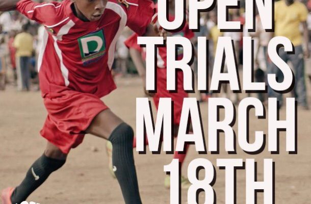 Right to Dream academy holds trials on March 18 at Kawukudi Park