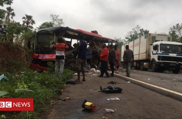 Dozens killed as Ghana buses collide
