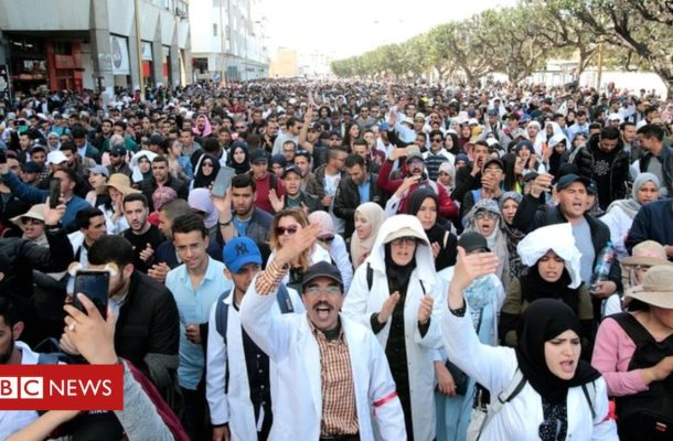 Morocco teachers march over conditions