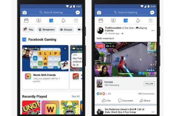 Facebook rolling out dedicated gaming tab on app
