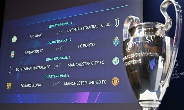 Champions League quarterfinals draw made in Switzerland