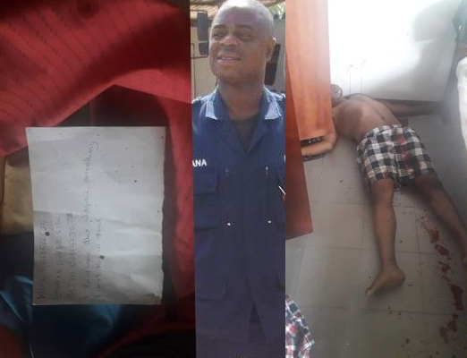 BREAKING: Police officer shoots himself dead at Osagyefo Barge; leaves a note