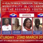 Navrongo NPP Health Walk: Missing MP, MCE photos on poster raises questions of party disunity