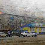 WATCH 2,000 Square Meter Roof of Residential Building Burns in Kansk, Russia