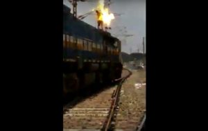 Man Gets Electrocuted Atop a Train in India (EXTREMELY GRAPHIC VIDEO)