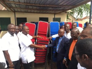 Akim Oda: CAC gets 300 banquet chairs from businessman