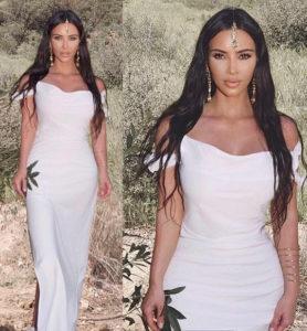 PHOTOS: Kim Kardashian shows off her stunning look to Kanye West's Sunday service