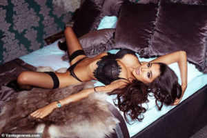PHOTOS: Reality star Chloe Khan shows off her surgically enhanced body as she strips in Playboy shoot