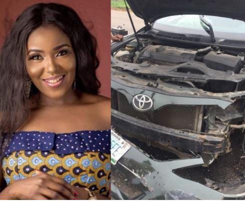 PHOTOS: Actress survives terrible car crash