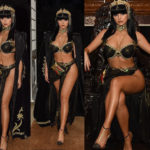 PHOTOS: Demi Rose transforms into a stunning Cleopatra to ring in her 24th birthday with sexy Egyptian bash