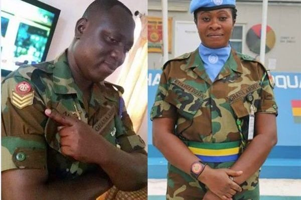 Soldier Couple who drowned after Sunday's downpour in Accra
