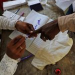 Indian man chops off finger after voting for the 'wrong party'