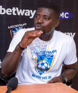 Medeama coach Samuel Boadu saddens by crowd trouble at Aduana Stars