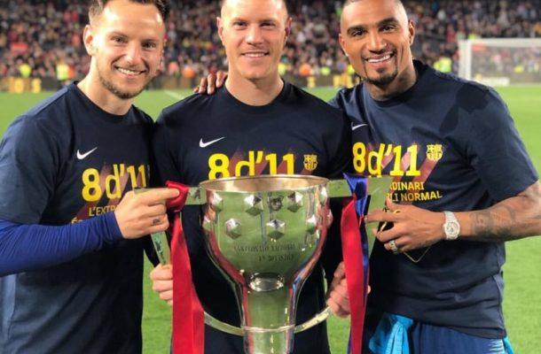 KP Boateng makes history as Barça crowned La Liga champions