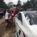 PHOTOS: Bikini-clad female car washers cause mayhem in Kwahu
