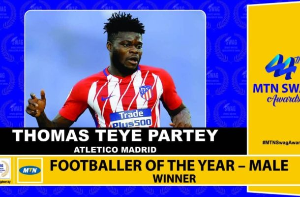 Thomas Partey retains SWAG Footballer of the Year award
