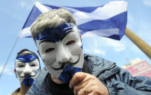 People Gather in Glasgow For Scotland Independence March (VIDEO)