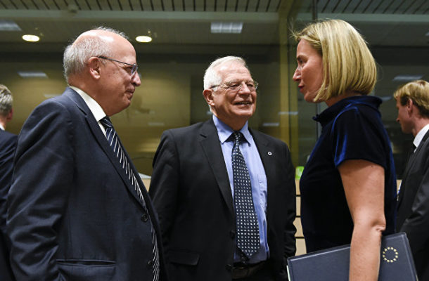 Federica Mogherini Gives Presser After EU Foreign Ministers' Summit (VIDEO)