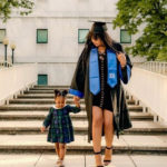Davido's second baby mama, Amanda poses with their daughter as she graduates from US university