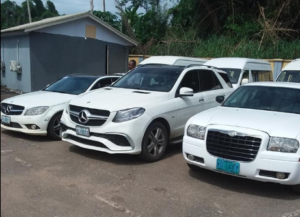 PHOTOS: Economic & Financial Crimes office seize luxurious cars from 'Sakawa' boys