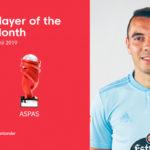 Iago Aspas named LaLiga Santander Player of the Month for April
