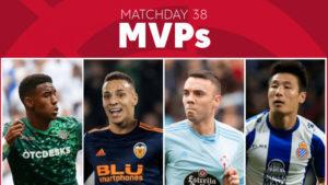 Vote for the MVP of Matchday 38 in LaLiga Santander