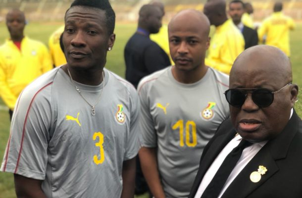 Ghana leader Akufo-Addo set to force Asamoah Gyan to rescind retirement decision- Top official hints