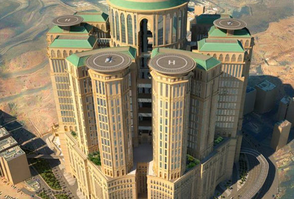 Word's largest hotel under construction in the sacred city of Mecca