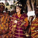 'King of Pop' Michael Jackson in kente; crowned 'Prince of Sanwi' in 1992