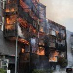 Blaze destroys 20 flats in east London