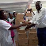 MP presents hospital items worth GHc 30,000 to three health facilities