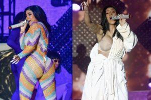 Cardi B forced to perform in bathrobe after wardrobe malfunction