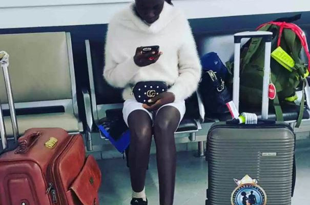 Ghanaian fashion model runs away after arriving in Paris for an event