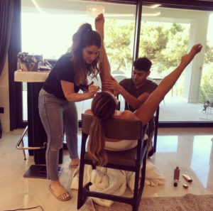 PHOTO: Chrissy Teigen widely opens legs for makeup session