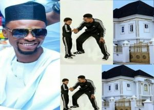 PHOTOS: Comedian, I Go Dye, gifts his son a massive house as he turns 9