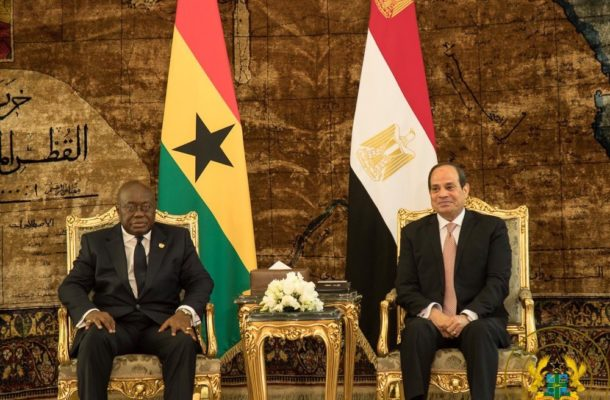 2019 AFCON: Akufo-Addo in Egypt to watch Ghana vs Benin game