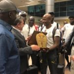 PHOTOS: Black Stars touchdown in Egypt for 2019 AFCON