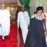 Nigeria's first lady wears $2,145 Oscar De LaRenta cape dress to Democracy Day gala night
