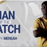 Ropapa Mensah named Man of the Match in Nashville draw