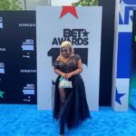 PHOTOS: Moesha Boduong takes huge bumbum to BET Awards; shows off cleavage on red carpet